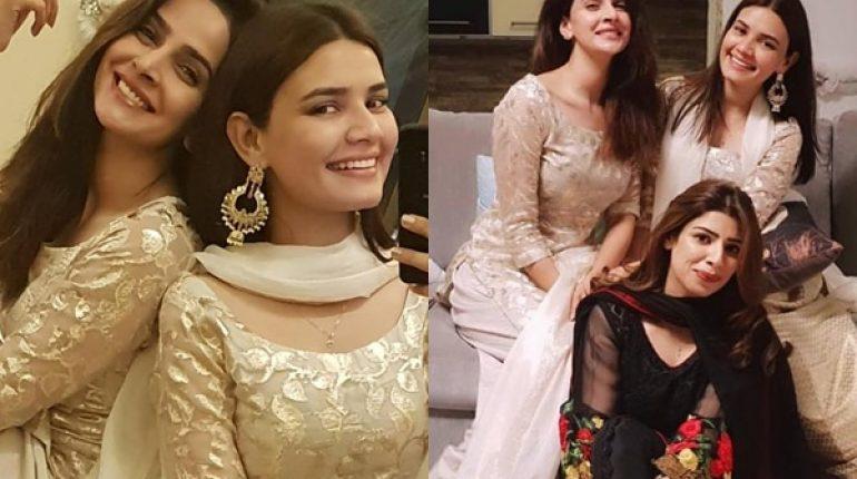 See Saba Qamar and Kiran Haq Twinning on Eid