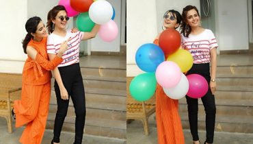 See Sumbul Iqbal with Komal Iqbal at her Birthday