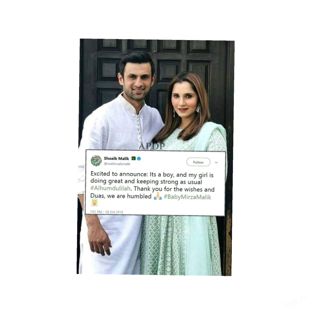 Shoaib Malik and Sania Mirza blessed with a baby boy ...
