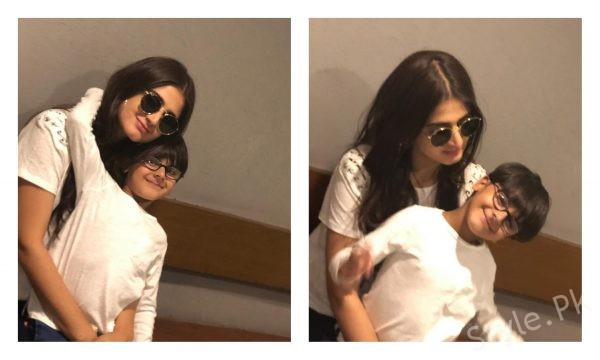 Adorable clicks of Hira Mani with her son! by Nimra Zafar