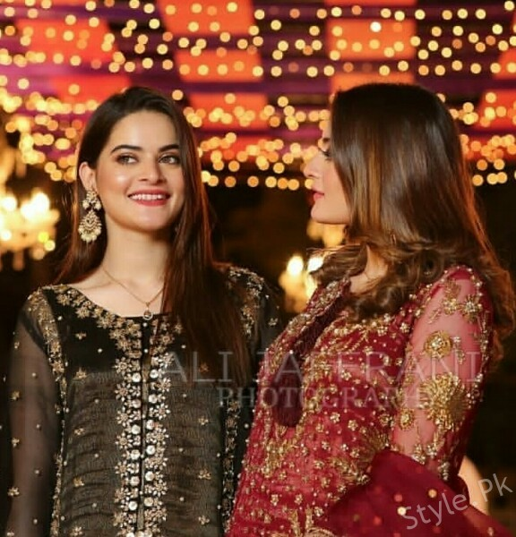 Latest Pictures Of Minal Khan And Aiman Khan In A Wedding