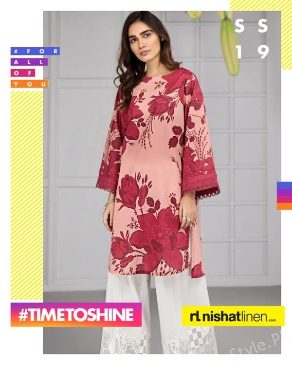 50d6c57e0baa This whole summer wear collection 2019 has been designed in the simple and complete  traditional and elegant variations. The dresses are designed in the ...